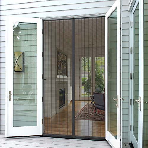 Planet Homeware Full Frame Heavy Duty Velcro Mesh Magnetic Screen Door Curtain, Fits up to 35 x 82-Inch (Door 35 compare prices)