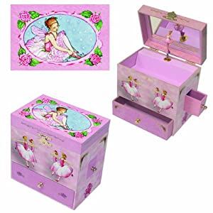 Ballerina treasure music box toys games for Amazon ballerina musical jewelry box