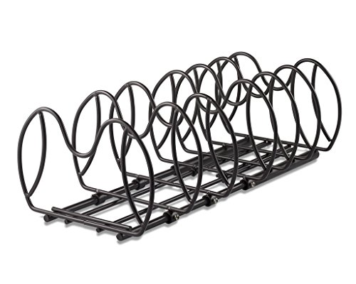 Adjustable/expandable 6 tier pot rack and pan organizer pan rack and pot holders, this pot organizer can be adjusted for pots or lids and pans