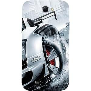Casotec Drift Sport Print Design Hard Back Case Cover for Samsung Galaxy Note 2 N7100