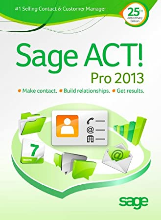 Sage ACT! Pro 2013 Upgrade - Includes 1 hour ACT! 101 training webinar held weekly