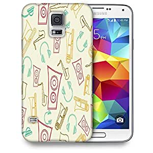 Snoogg Speakers And Jazz Printed Protective Phone Back Case Cover For Samsung S5 / S IIIII