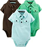 Carter's Baby Boys' 3 Pack Polo Bodysuits