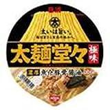 (お徳用ボックス) 日清 太麺堂々 極味濃厚魚介豚骨醤油 136g×12食