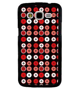 Printvisa Red And White Circular Pattern Back Case Cover for Samsung Galaxy J5::Samsung Galaxy J5 J500F