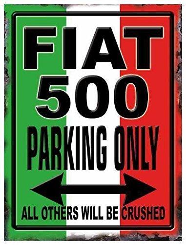 blechschild-fiat-500-parking