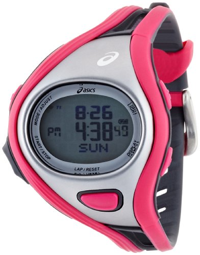 Asics Women's Challenge CQAR0306 Pink Polyurethane Quartz Watch with Digital Dial