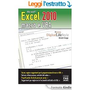 Microsoft Excel 2010 macro e VBA (-)