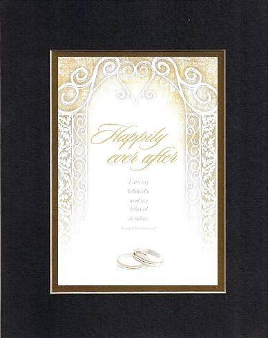 Happily Ever After I Am My Beloved'S, And My Beloved Is Mine. Song Of Solomon 6:3 . . . 8 X 10 Inches Biblical/Religious Verses Set In Double Beveled Matting (Black On Gold) - A Timeless And Priceless Poetry Keepsake Collection front-389102
