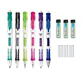 Paper Mate Clear Point Mechanical Pencil Starter Set, 0.7mm, Fashion Assorted Colors Will Vary, Pack of 6 Pencils, 3 Lead Refills, and 6 Eraser Refills (Tamaño: 6-Pack Starter Set (0.7MM))