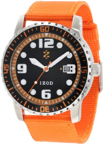 IZOD Men's IZS3/7 ORANGE Sport Quartz 3 Hand Watch
