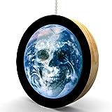 Earth Skull Hardwood Oak Fan / Light Pull