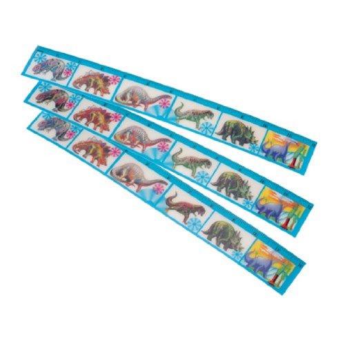 Dozen Dinosaur Theme Flicker Rulers