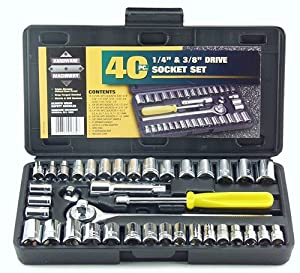 Great Neck PSO40 40 Piece 1/4-Inch and 3/8-Inch Drive Socket Set from Great Neck Saw