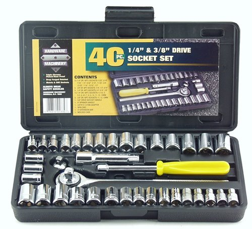 Great Neck PSO40 40 Piece 1/4-Inch and 3/8-Inch