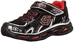 Skechers Kids Star Wars Dynamo Continuem Sneaker (Toddler/Little Kid), Black/Red, 7 M US Toddler