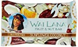 Wai Lana Fruit and Nut Bars, Sunflower Coconut, 2 Ounce (Pack of 12)