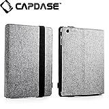 CAPDASE iPad (第3世代) / iPad2 共用 Protective Case FOLIO FELT, Grey / Black 3段階スタンド機能つき ブックタイプ フェルト張り PUレザーケース 「フォリオ・フェルト」(ドックコネクタ &イヤホンジャック キャップ つき) グレー/ブラック SLAPIPAD2-P6G1