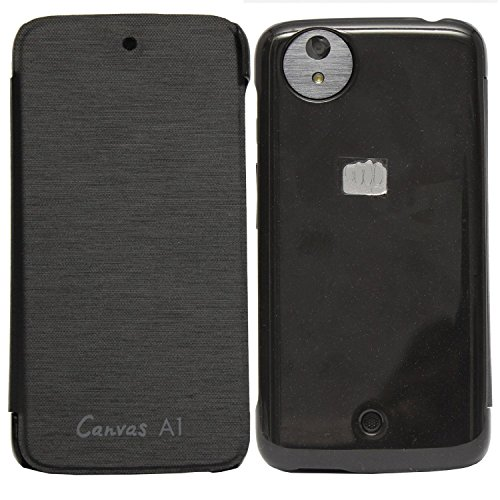 Kaira Brand Black Flip case Cover for Micromax Canvas A1 Android One