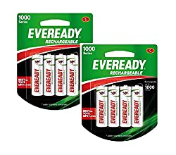Eveready 1000 Series AA NIMH (8 Pcs) Rechargeable Battery