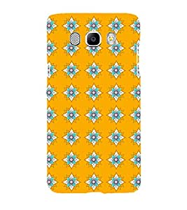 Printvisa Yellow And Flue Floral Pattern Back Case Cover for Samsung Galaxy J7 (2016)::Samsung J710F