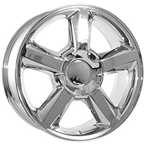 22 inch chevy chrome avalanche wheels rims automotive. Black Bedroom Furniture Sets. Home Design Ideas