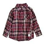 (イーザッカマニアストアーズ)e-zakkamania stores フランネル ボタンダウン チェックシャツ[キッズ] 130 レッド