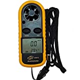 Digital Anemometer Woopower GM816 Wind Speed Meter Air Flow Velocity Thermometer Measuring Device with LCD Backlight for Windsurfing, Sailing, Fishing, Kite Flying and Mountaineering