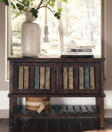 Signature Design by Ashley Mestler Rustic Brown Console Table (Console In Furniture compare prices)