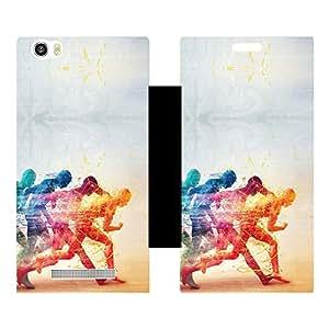 Skintice Designer Flip Cover with hi-res printed Vinyl sticker wrap-around for Lava Iris X10