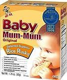 Hot-Kid Baby Mum-Mum Original Flavor Rice Biscuit, 24-pieces-1.76oz(Pack of 6)