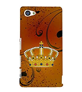 Crown 3D Hard Polycarbonate Designer Back Case Cover for Sony Xperia Z5 Compact :: Sony Xperia Z5 Mini