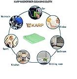 KARP MICROFIBER MULTI PURPOSE TOWEL,CAR CARE AND DRY WET CLEANING CLOTH (40cm x40cm) Sea green