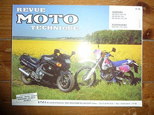 Couverture du livre RRMT0086.4 REVUE TECHNIQUE MOTO - SUZUKI DR350S, SUZUKI DR350SH - KAWASAKI ZZR600