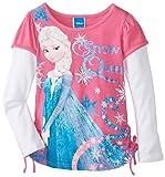 Disney Little Girls' Frozen Snow Queen Long-Sleeve Twofer Shirt