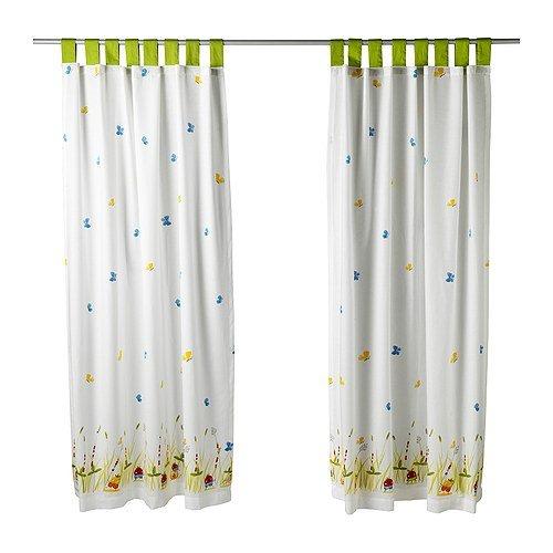 Amazon.com : Ikea Torva Fjäril Pair of Curtains, Multicolor : Window