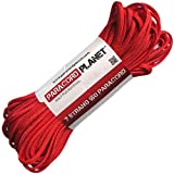 Paracord Planet Mil-Spec Commercial Grade 550lb Type III Nylon Paracord 25 feet Red