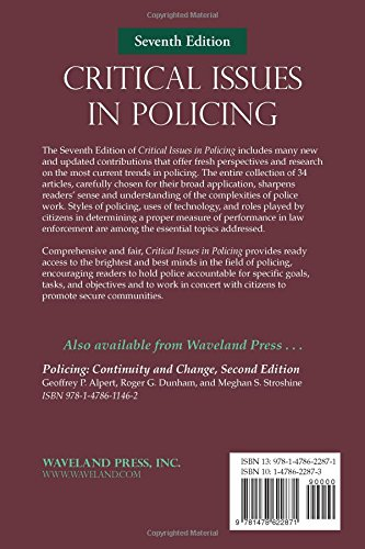 critical issues in policing La's generous assistance for perf's critical issues in policing series has made it possible for us to focus on the challenges that perf members and other police.