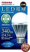 TOSHIBA E-CORE(イー・コア) LED電球(調光器対応・密閉器具対応・E26口金・一般電球形・白熱電球40W相当・340ルーメン・昼白色相当) LEL-AW4N/D