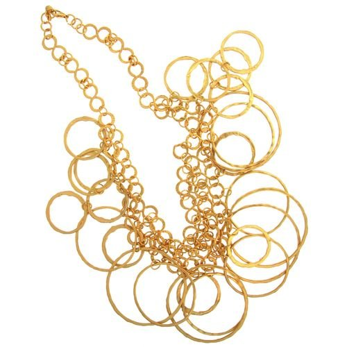 Multi-Ring Necklace, Awesome! Vibe Vixen In Gold with Matte Finish