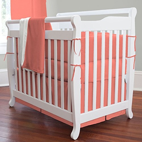 Carousel Designs Solid Coral Mini Crib Blanket