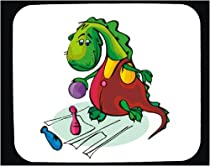Decorated Mouse Pad with dinosaur, sport, ball, bowling, dragon, pin