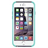 iPhone 6 Case, Vogue shop Hybrid High Impact Heavy Duty Dual Layer Hard PC Outer Shell with Soft Rubber Inner Armor Defender Case Cover for Apple iPhone 6 4.7 inch Screen with Screen Protector (Three Month Warranty) (aqua+gray)