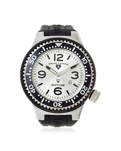 Swiss Legend Men's 21818S-F-OR Neptune Black/Silver Silicone Watch