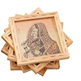 Traditional Rajasthani Gem And Wooden Coaster_TR_Coaster_005