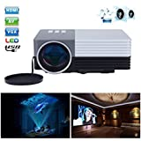 Portable Mini Projector LCD LED Portable HD Home Theater (100 Lumens, 640— 480, VGA HDMI AV USB SD Manual Focus...