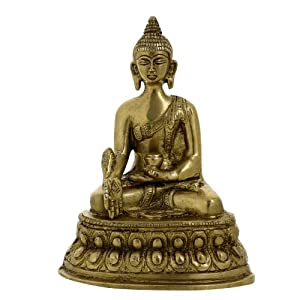 Statue Collectibles Seated Buddha Brass