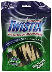 Twistix Dental Chews for Pets with Vanilla/Mint Flavor, Large