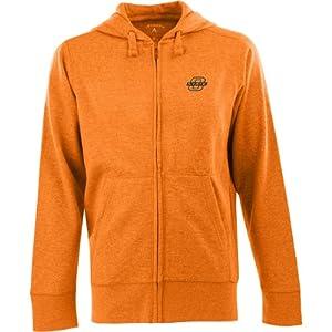 Antigua Mens Oklahoma State Cowboys Fleece Full-Zip Hooded Sweatshirt by Antigua