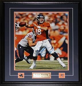 Peyton Manning Denver Broncos signed 16x20 frame by Midway Memorabilia